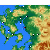 Nearby Forecast Locations - Ōmuta - Mapa