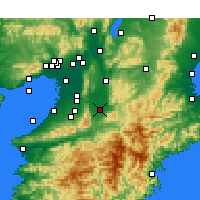 Nearby Forecast Locations - Kashihara - Mapa