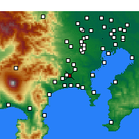 Nearby Forecast Locations - Ebina - Mapa