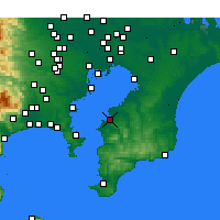 Nearby Forecast Locations - Kisarazu - Mapa