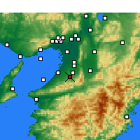 Nearby Forecast Locations - Kawachinagano - Mapa
