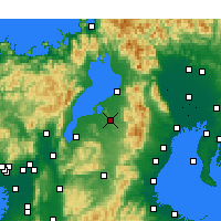 Nearby Forecast Locations - Higashiōmi - Mapa