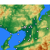 Nearby Forecast Locations - Ikeda - Mapa