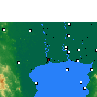 Nearby Forecast Locations - Samut Sakhon - Mapa