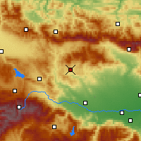 Nearby Forecast Locations - Obština Panagjurište - Mapa