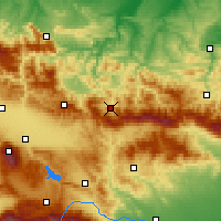Nearby Forecast Locations - Etropole - Mapa