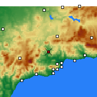 Nearby Forecast Locations - Álora - Mapa