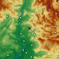 Nearby Forecast Locations - Valréas - Mapa