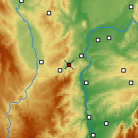 Nearby Forecast Locations - Rive-de-Gier - Mapa