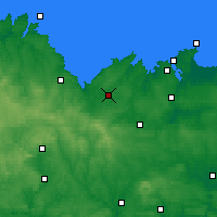 Nearby Forecast Locations - Lamballe - Mapa
