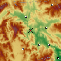 Nearby Forecast Locations - Veles - Mapa