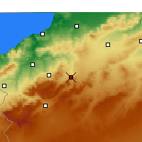 Nearby Forecast Locations - Ouled Mimoun - Mapa