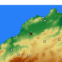 Nearby Forecast Locations - Hammam Bou Hadjar - Mapa