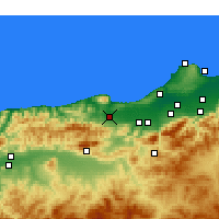 Nearby Forecast Locations - Hadjout - Mapa