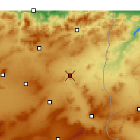 Nearby Forecast Locations - El Aouinet - Mapa
