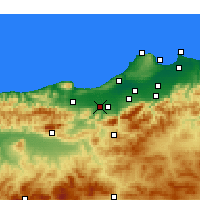 Nearby Forecast Locations - El Affroun - Mapa
