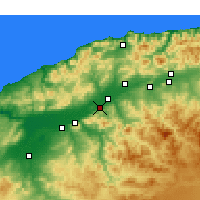 Nearby Forecast Locations - Boukadir - Mapa