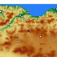Nearby Forecast Locations - Bougaa - Mapa