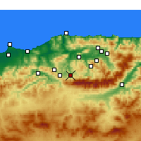 Nearby Forecast Locations - Boghni - Mapa