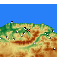 Nearby Forecast Locations - Azazga - Mapa