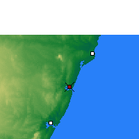 Nearby Forecast Locations - Kilifi - Mapa