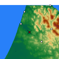 Nearby Forecast Locations - Ksar el-Kebir - Mapa