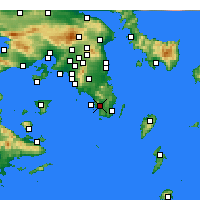 Nearby Forecast Locations - Anavyssos - Mapa