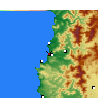 Nearby Forecast Locations - Concón - Mapa