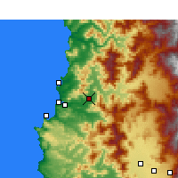 Nearby Forecast Locations - Quillota - Mapa