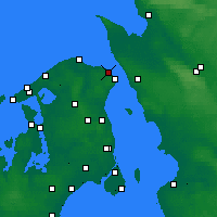 Nearby Forecast Locations - Hellebæk - Mapa