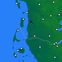 Nearby Forecast Locations - Skærbæk - Mapa
