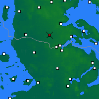 Nearby Forecast Locations - Tinglev Sogn - Mapa