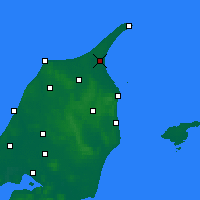 Nearby Forecast Locations - Ålbæk - Mapa