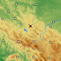 Nearby Forecast Locations - Ustrzyki Dolne - Mapa