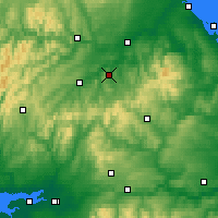 Nearby Forecast Locations - Jedburgh - Mapa