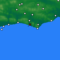 Nearby Forecast Locations - Newhaven - Mapa