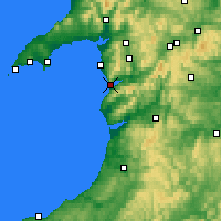 Nearby Forecast Locations - Barmouth - Mapa