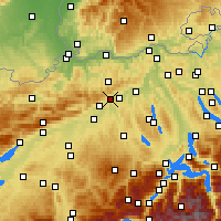 Nearby Forecast Locations - Olten - Mapa