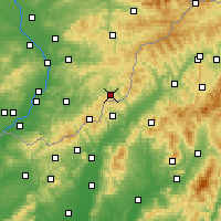 Nearby Forecast Locations - Štítná nad Vláří-Popov - Mapa