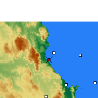 Nearby Forecast Locations - Fourmile Beach - Mapa