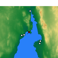 Nearby Forecast Locations - False Bay - Mapa