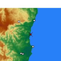 Nearby Forecast Locations - Nambucca Heads - Mapa