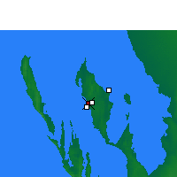 Nearby Forecast Locations - Little Lagoon - Mapa