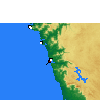 Nearby Forecast Locations - Honnavar - Mapa