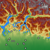 Nearby Forecast Locations - Komské jezero - Mapa