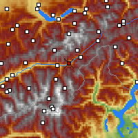 Nearby Forecast Locations - Brig - Mapa