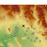 Nearby Forecast Locations - Phoenix Deer V. - Mapa