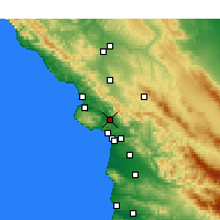 Nearby Forecast Locations - San Luis Obispo - Mapa