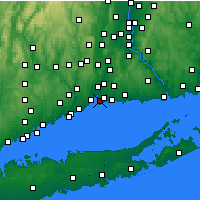 Nearby Forecast Locations - New Haven - Mapa