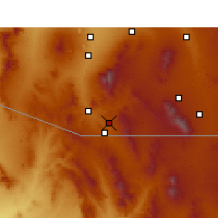 Nearby Forecast Locations - Nogales - Mapa